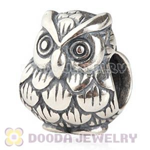 Antique 925 Sterling Silver European Owl Charms Beads Wholesale
