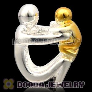 Gold Plated Sterling Silver European Paternity Charms Beads Wholesale