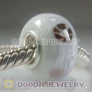 Top Class Jewelry Glass Beads with 925 sterling silver single core