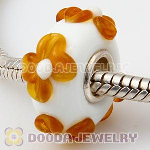 925 sterling silver single core Charm Jewelry glass beads