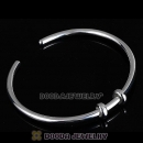 19cm 925 Sterling Silver European Style Bangle with 2 Stopper Beads
