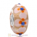 European Flower Style High Class Glass Beads for Jewelry with 925 Silver Core