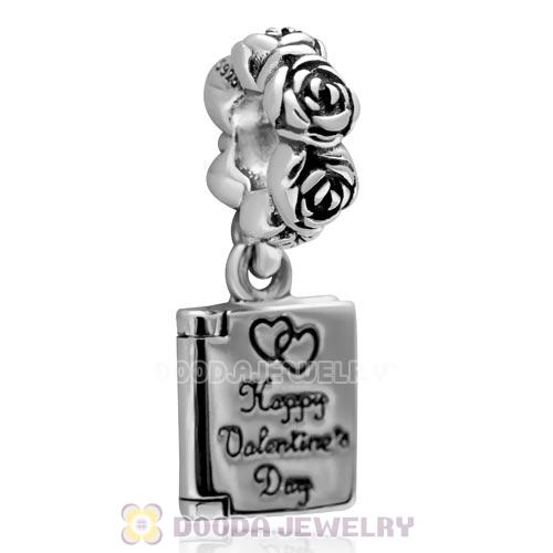 Authentic Sterling Silver Love Notebook Dangle Charm for Valentine's Day