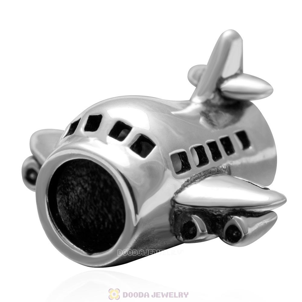 Passenger Flights Charm Bead 925 Sterling Silver