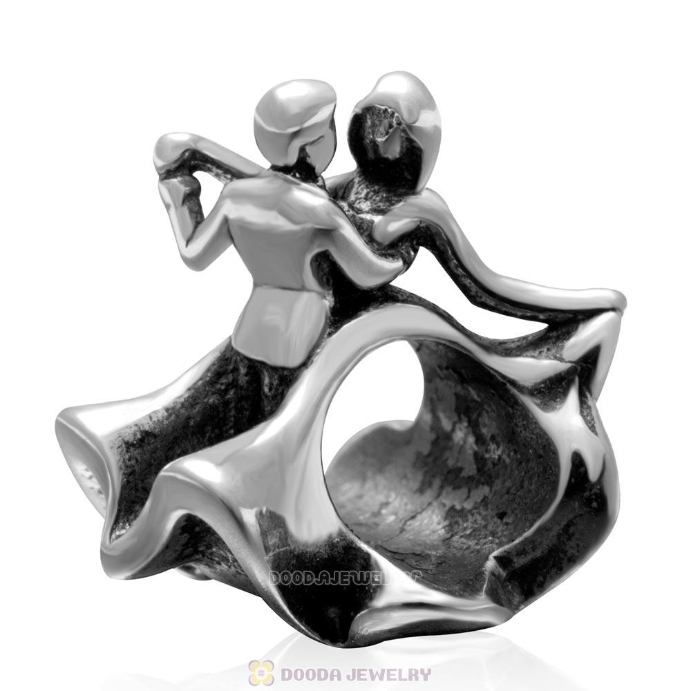 Evening Party Dancing Charm 925 Sterling Silver Bead