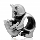 925 Sterling Silver Mother and Baby Panda Charm Bead