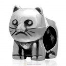 925 Sterling Silver Animal Cat Charm Bead