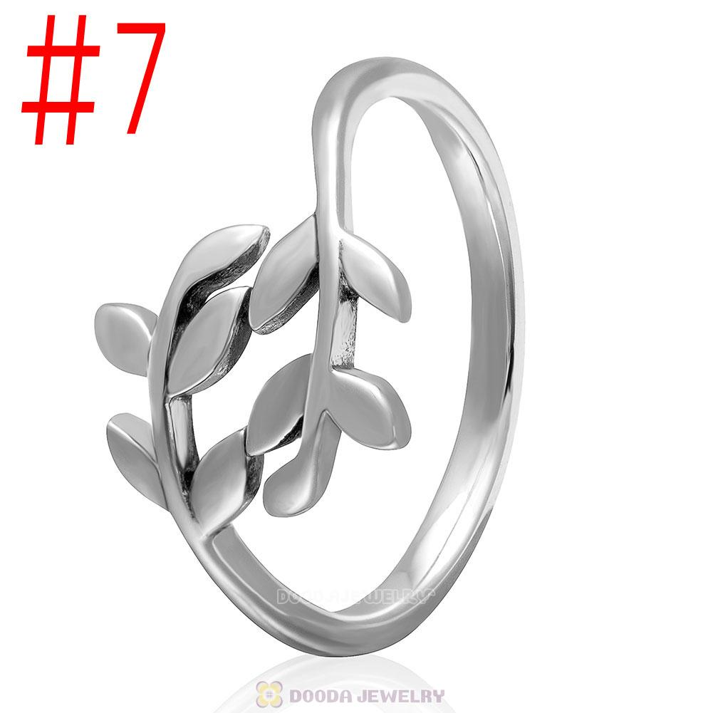 European 925 Sterling Silver Leaves Ring Wholesale