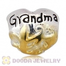 Gold Plated and European Style 925 Silver Grandma Beads