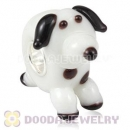 Handmade European Glass Puppy Dog Beads In 925 Silver Core Wholesale
