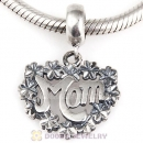 925 Sterling Silver MOM Dangle Charms For Mother Day