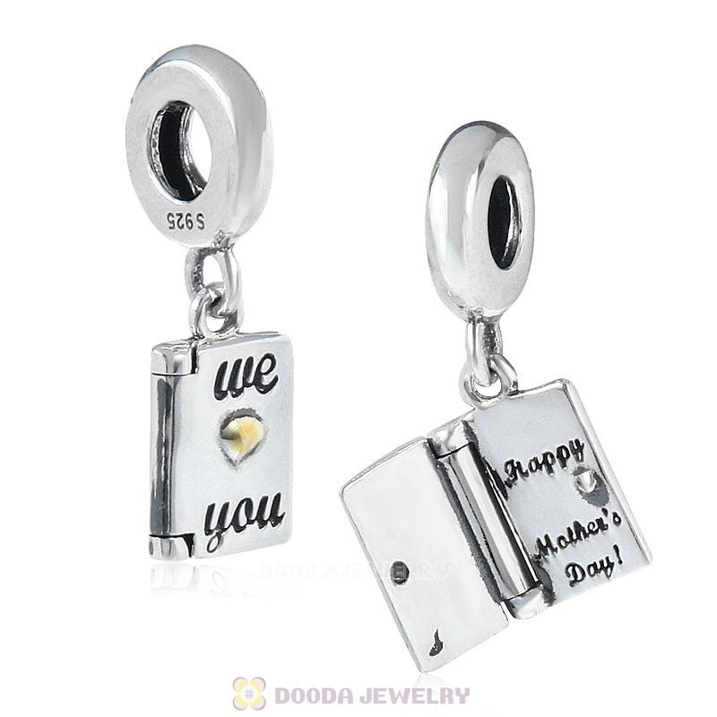 Happy Mother's Day We Love You Gold Charms