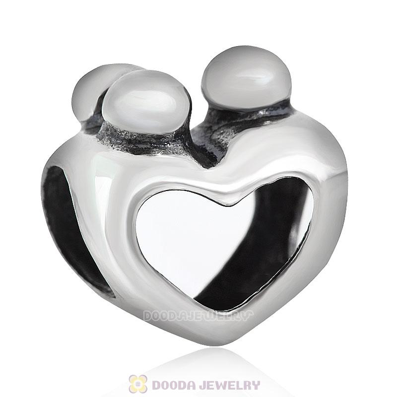 925 Sterling Silver European Happy Family Charms Beads Wholesale