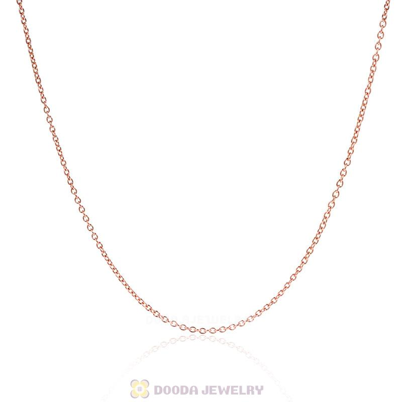 Rose Gold Basic Necklace for European Charms