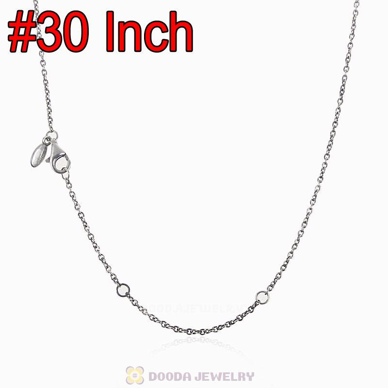 925 Sterling Silver Basic Necklace with Lobster Clasp