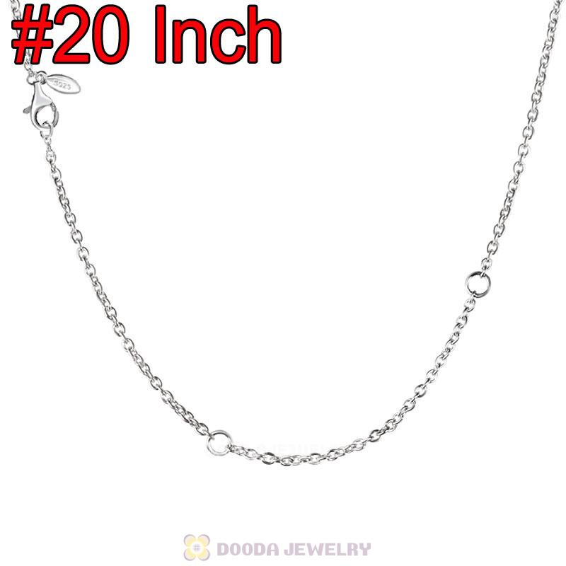 Platinum Plating Basic Necklace with Lobster Clasp