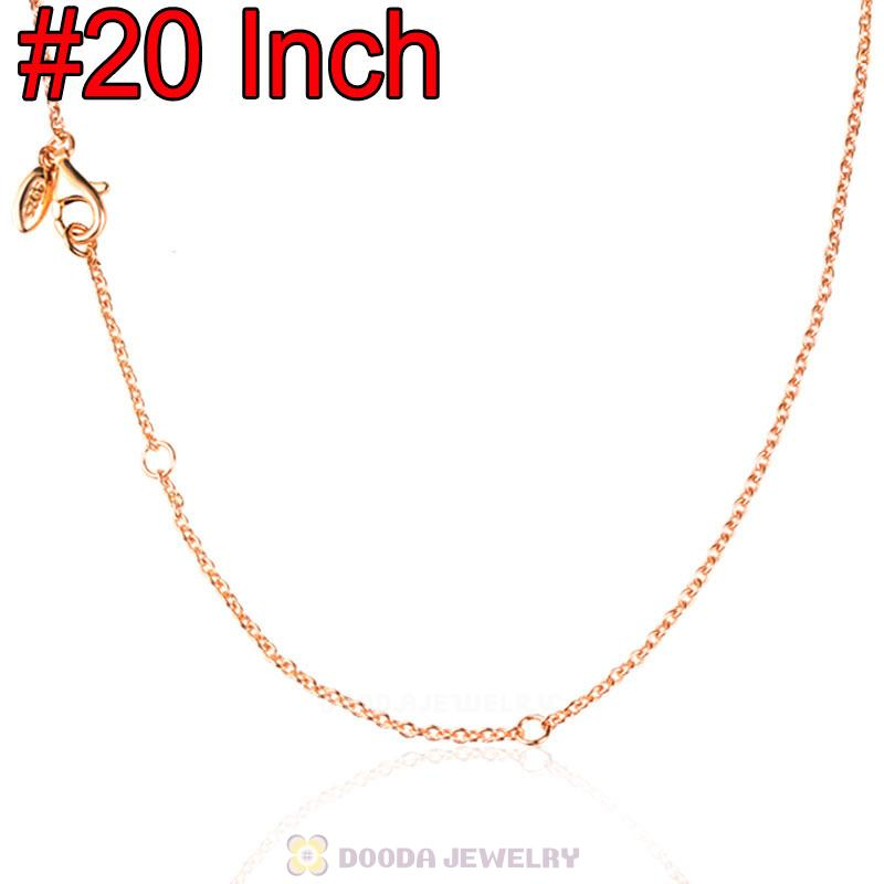 Rose Gold Basic Necklace with Lobster Clasp