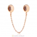Rose Gold Safety Chain with Rubber Stopper Beads