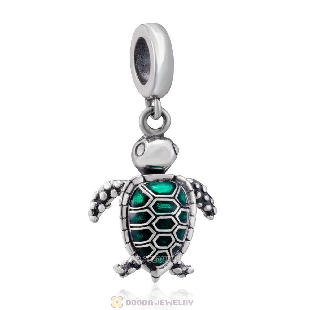Sea Turtle Dangle 925 Sterling Silver Charms