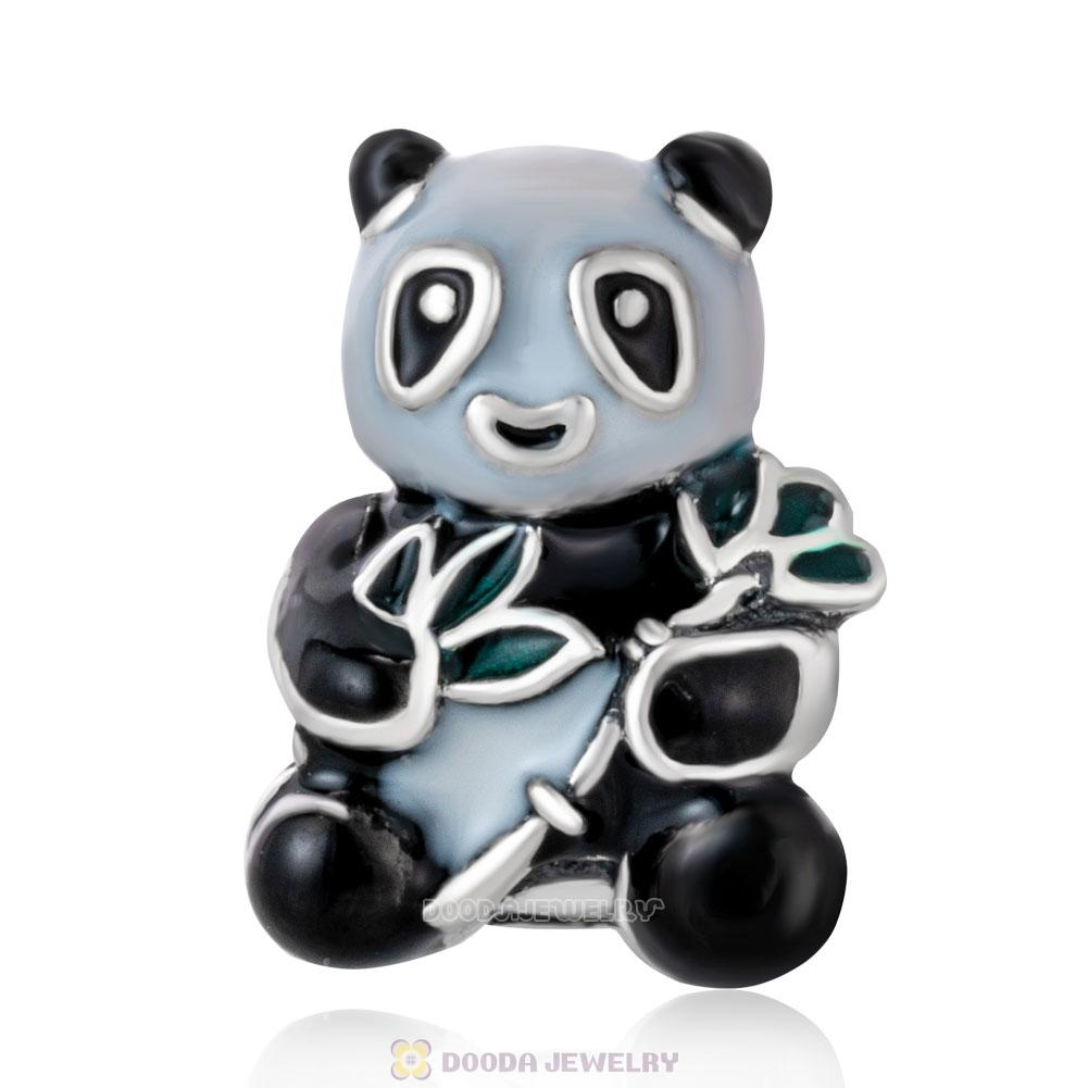 Panda Bear with Mix Enamel Charms