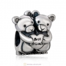 Best Friend Bear Charms Forever Friendships Beads