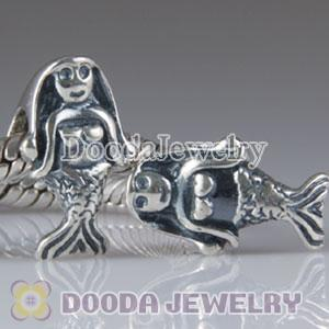 925 Sterling Silver European Style sea-maiden charm Beads