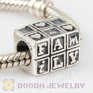 925 Sterling Silver FAMILY charm Beads