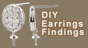 Sterling Silver European Beads Bamboo Earrings Bubble