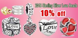 2016 love and heart beads
